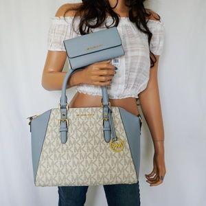 Michael Kors Ciara L Satchel Vanilla & Wallet